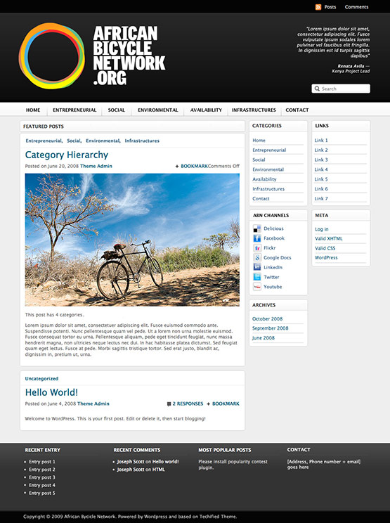 African Bycicle Network Blog